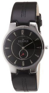 Skagen 433lslb Black Leather Watch