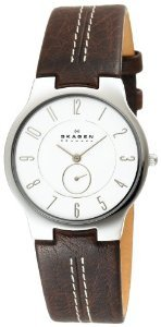 Skagen 433lsl1 Brown Leather Watch