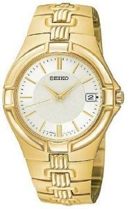 Seiko Mens Sgec70 Gold Watch