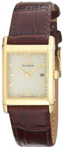 Citizen Bw0072 07p Eco Drive Gold Tone Leather