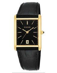 Pulsar Pxda80 Gold Tone Stainless Leather