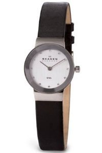 Skagen Womens 358xsslbc Collection Leather