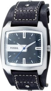 Fossil Jr9991 Black Leather Analog