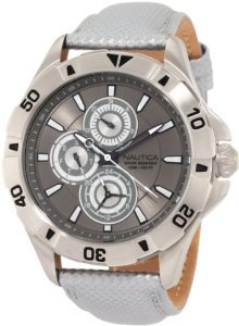 Nautica N14570g Multifunction Leather Watch