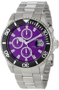 Invicta 1006 Chronograph Purple Stainless