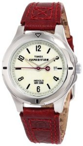 Timex Womens Expedition Burgundy Leather