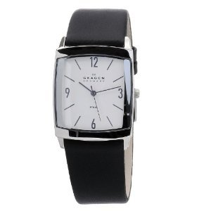 Skagen 691lsls Black Leather Stainless