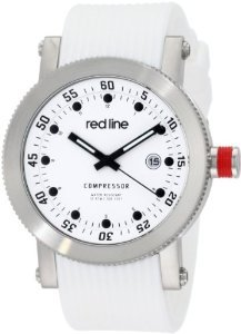Rl 18000 02 Wht St Compressor White Silicone Watch