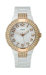 Guess Womens U11661l1 White Quartz