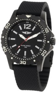Invicta 10008 004 Black Textured Silicone