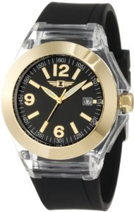Invicta Womens Ibi 10068 006 Black Polyurethane