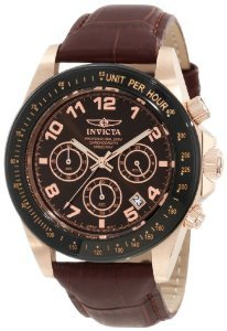 Invicta 10712 Speedway Brown Leather