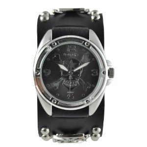 Nemesis Mic906k Cross Skull Watch
