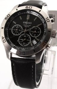 Seiko Black Stainless Steel Ssb049p2